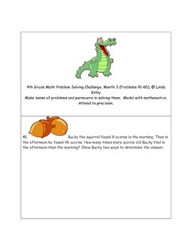 Math-4th Grade-Month 03: Challenge Problem Solving (Questions 41-60)