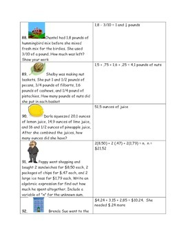 Math-4th Grade-Month 05: Challenge Problem Solving (Questions 81-100)
