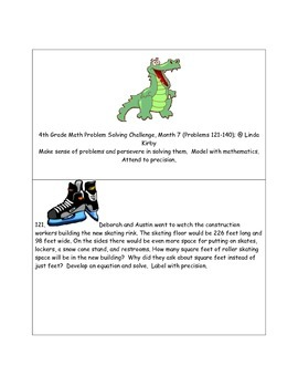 Math-4th Grade-Month 07: Challenge Problem Solvng (Questions 121-140)