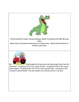 Math-4th Grade-Month 09: Challenge Problem Solving (Questions 161-180)