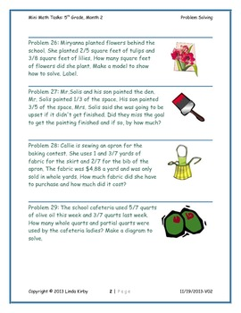 Math-5th Grade-Month 02: Challenge Problem Solving (Questions 21-40)
