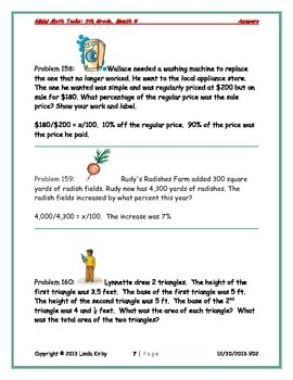 Math-5th Grade-Month 08: Challenge Problem Solving (Questions 141-160)