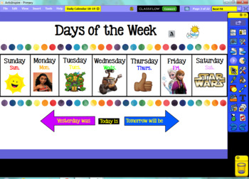Daily Calendar 18-19 School Year (ActivInspire Flipchart)