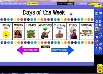 Daily Calendar ActivInspire Flipchart