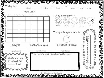 Daily Calendar Activities for the Entire Year