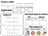 Daily Calendar Activity Sheets