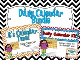 Daily Calendar Bundle {Red and Blue}