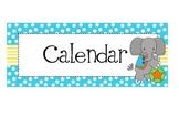 Daily Calendar Circus or Carnival Headings