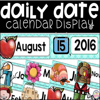 Daily Calendar Date Display