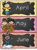 Daily Calendar Display & Weather for the Australian Classroom {Chalkboard}