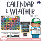 Daily Calendar Display & Weather for the Australian Classroom {Chalkboard}