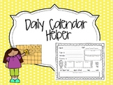 Daily Calendar Helper {August- June}