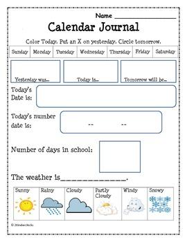 Daily Calendar Journal