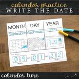 Daily Calendar Journal - Calendar Math Time