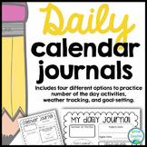 Daily Math Calendar Journal (Perfect for Morning Work)