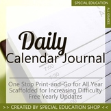 Differentiated Daily Calendar Morning Work Journal for Special Education