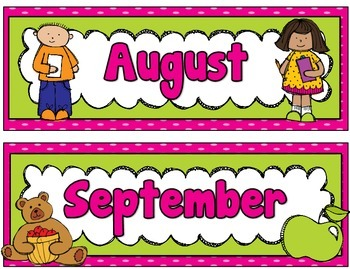 Daily Calendar Kit {Pink and Green}