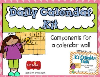 Daily Calendar Kit {Shabby Chic - pink, blue, green}