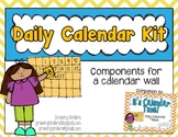Daily Calendar Kit {Yellow and Blue}