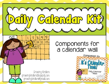 Daily Calendar Kit {Yellow and Green}
