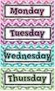 Daily Calendar Kit for your Calendar Wall- CHEVRON