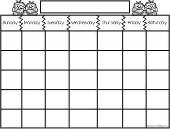 Daily Calendar Math Activity and Monthly Calendar