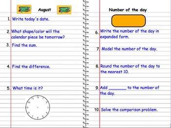 Daily Calendar Math Flipchart
