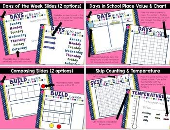Calendar Math Interactive Powerpoint, Year Long Calendar