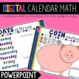 Calendar Math Interactive Powerpoint, Year Long Calendar