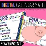 Digital Calendar Math on PowerPoint DISTANCE LEARNING