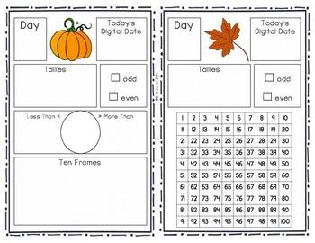 Daily Calendar Math Interactive Journal - FREEBIE!