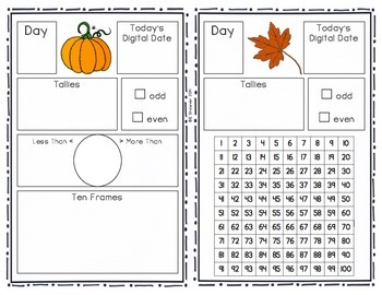 Daily Calendar Math Interactive Journal - FREEBIE!