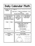 Daily Calendar Math Journal