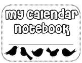 Daily Calendar Math Notebook