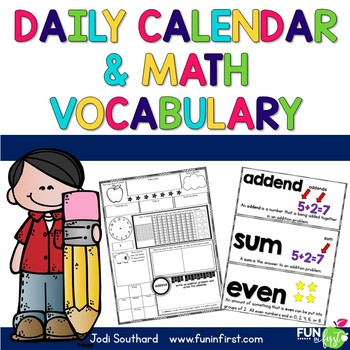 Daily Calendar & Math Vocabulary