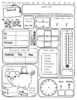 daily calendar math worksheet by katiebugs creations  tpt