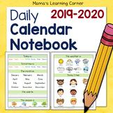 Daily Calendar Notebook 2019-2020