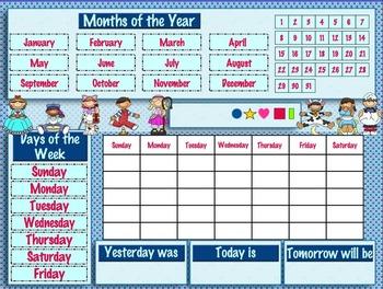Daily Calendar (Nursery Rhymes Theme)