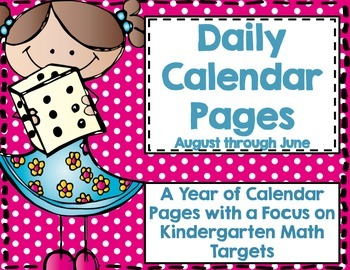 Daily Calendar Pages-August through June