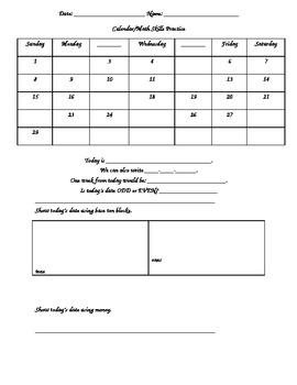 Daily Calendar Practice