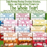 Morning Meeting Greeting Activities and Daily Writing Prom