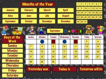 Daily Calendar (School Bus Theme)