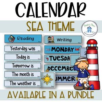 Daily Calendar - Sea Theme