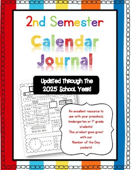 Daily Calendar Sheet for 2nd Semester