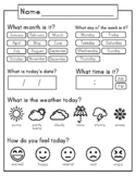 Daily Calendar & Weather Journal Sheet | Homeschool