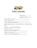 Daily Calendar Work