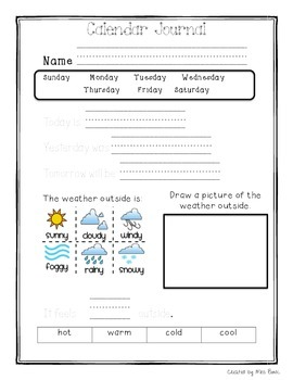 picture regarding Daily Work Sheet referred to as Everyday Calendar Worksheet