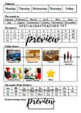 Daily Calendar Worksheet