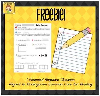 Daily Calendar Worksheet FREEBIE