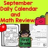 Daily Calendar and Math Review September 2020